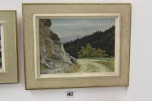 Pierre Jaques 1913-2000L Oil on canvas 'Forest Track' signed lower left. Fr