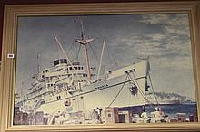 """20th cent. Maritime Prints: Colin Verity """"Dwarka"""" Chas Pears"""