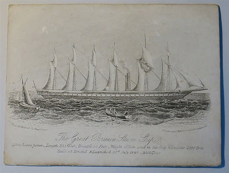 Isambard Kingdom Brunel The Great Britain Steam Ship Carte De Visite Engr