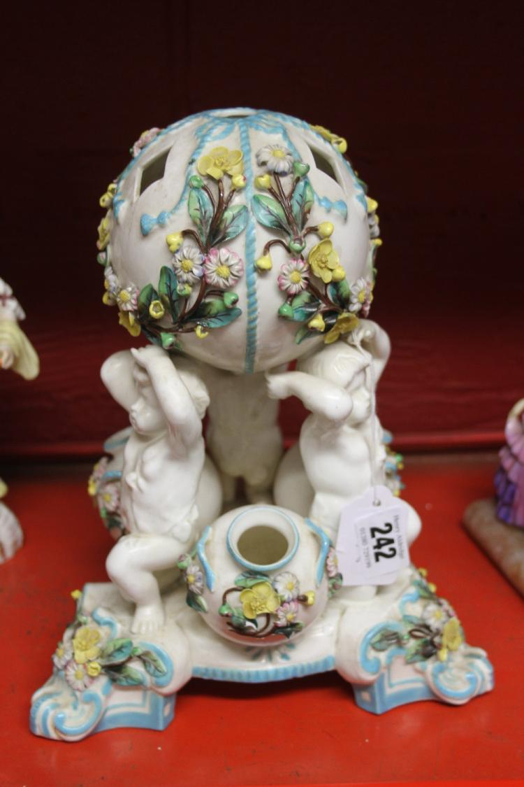 19th cent. Ceramics: Table centre piece possibly Minton, in