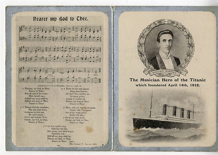 R.M.S. TITANIC: Nearer my God to Thee card in memory of Wallace H