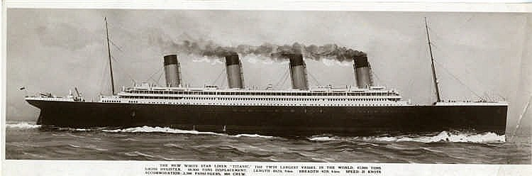 R.M.S. TITANIC: Walton of Belfast pre-sinking book card. 'The New