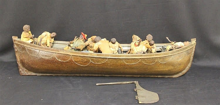 **1953 TITANIC FILM LIFEBOAT PROP: This lot consists of a 4ft. sc