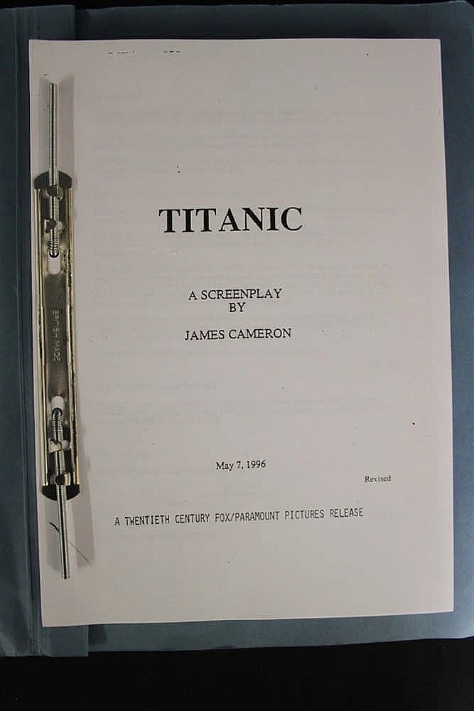 R.M.S. TITANIC:  20th cent. Fox/James Cameron movie script Titani
