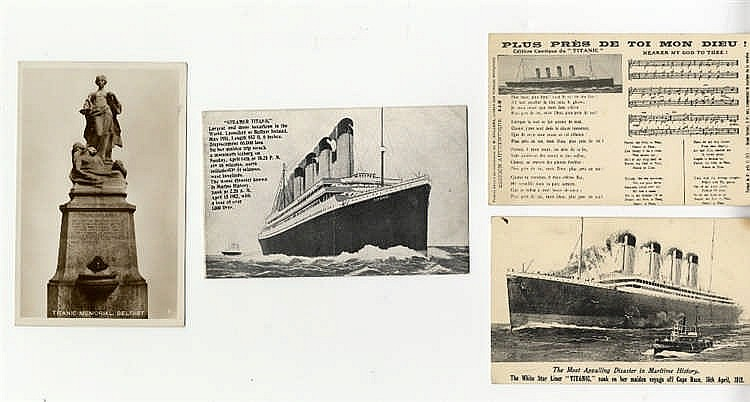 R.M.S. TITANIC: Post-disaster, including Tichnor Brothers, postca