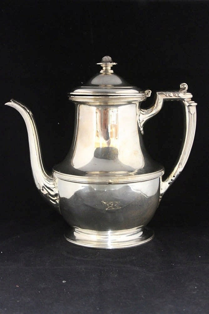 WHITE STAR LINE: First Class Elkington plate coffeepot, holds app