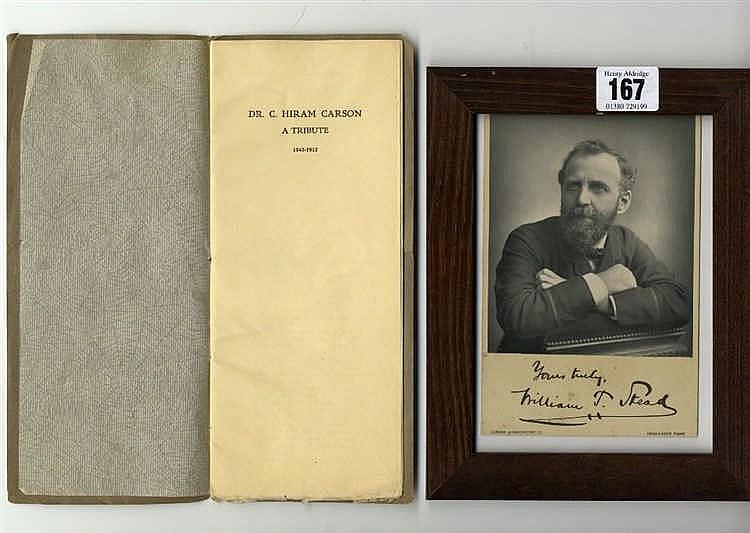 R.M.S. TITANIC WILLIAM THOMAS STEAD: Autographed studio portrait