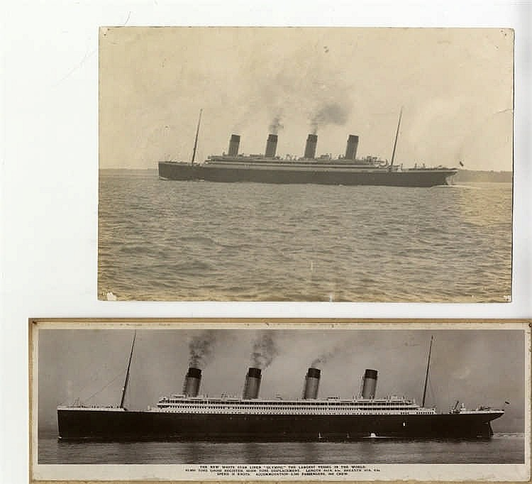 R.M.S. OLYMPIC: The New White Star Liner Olympic real photo bookp