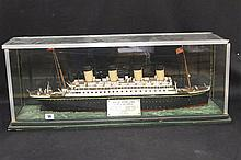 R.M.S. OLYMPIC: Scratch built model of the liner at sea in bespok
