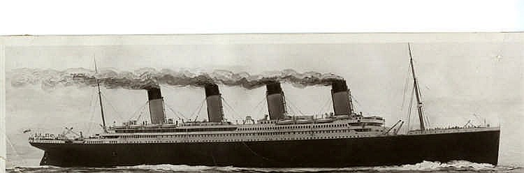 R.M.S. TITANIC: Book post card White Star Liner Titanic, struck a