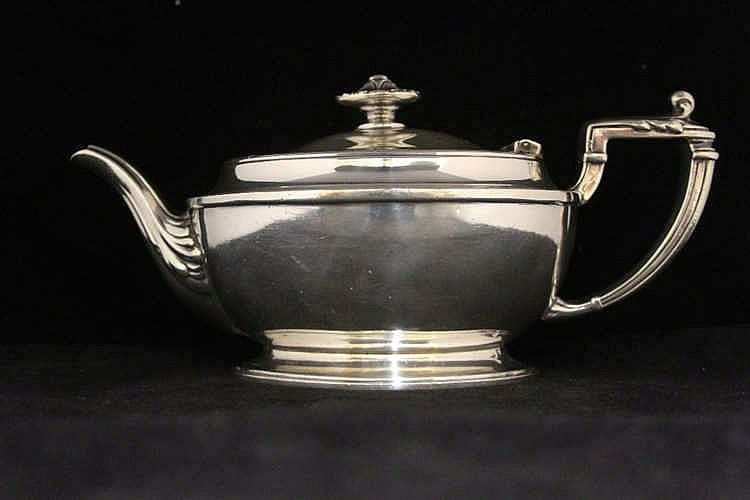 WHITE STAR LINE: Rare Elkington plate white metal First Class tea