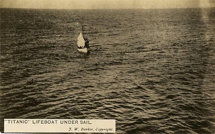 R.M.S. TITANIC: J.W. Barker photographic postcard of Titanic's 'n
