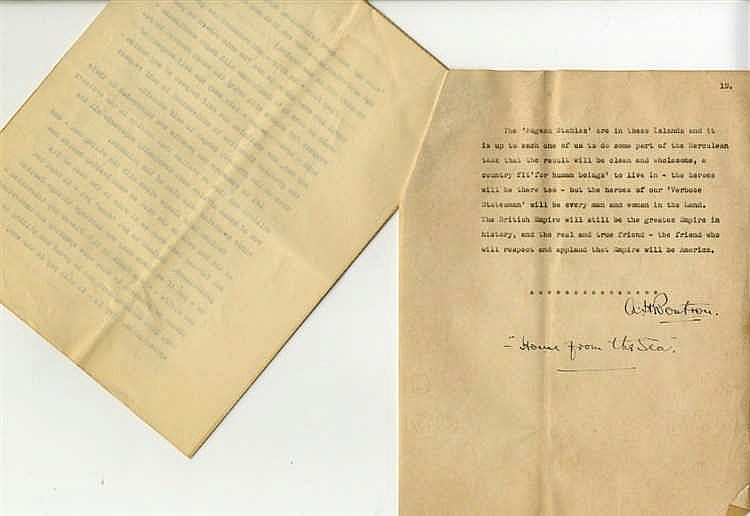 **R.M.S. OLYMPIC/TITANIC - ORIGINAL DRAFT CHAPTER FROM HOME FROM