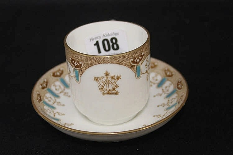 WHITE STAR LINE: First Class Stonier and Co. cup and saucer with