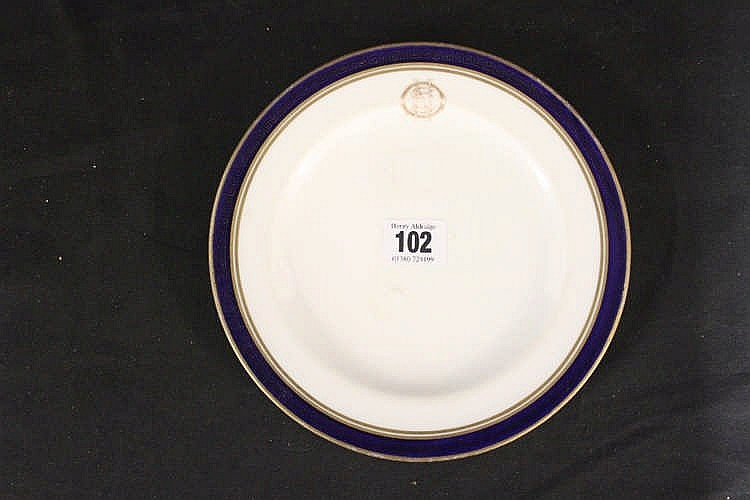 WHITE STAR LINE: Copeland Spode OSNC side plate with Greek key/co