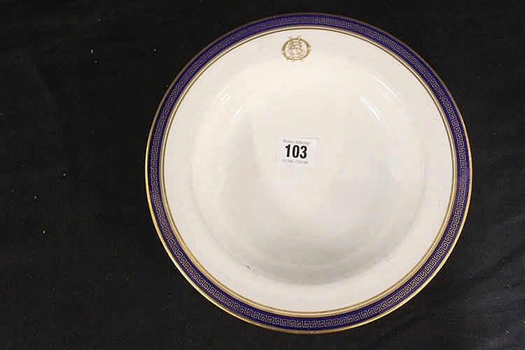 WHITE STAR LINE: Copeland Spode First Class OSNC soup bowl with c