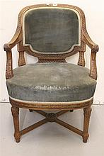 R.M.S. OLYMPIC: First Class oak à la carte dining room chair, hea