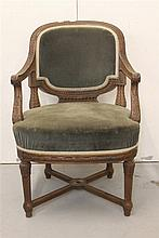 R.M.S. OLYMPIC: First Class oak à la carte dining room chair, hvy