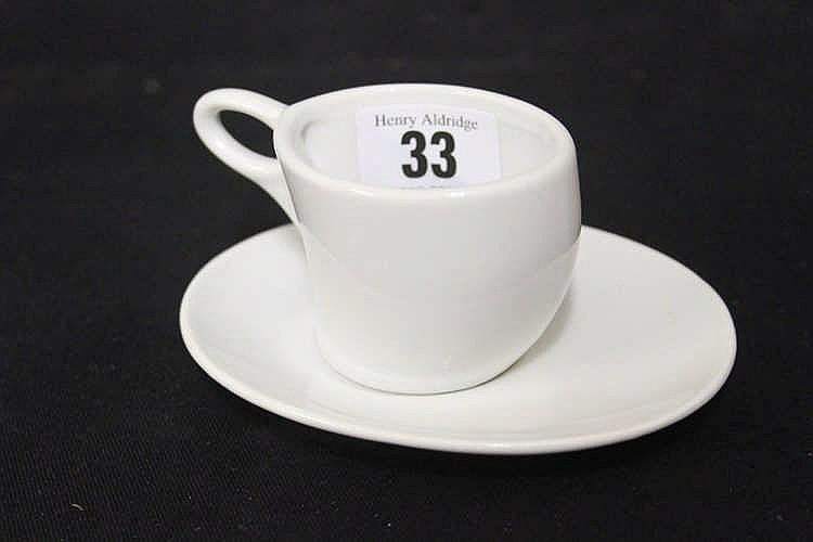 NAVAL: Kriegsmarine Third Reich demitasse cup and saucer, marked