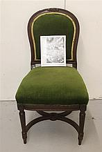 WHITE STAR LINE: Early 20th century upholstered dining chair, Ex.
