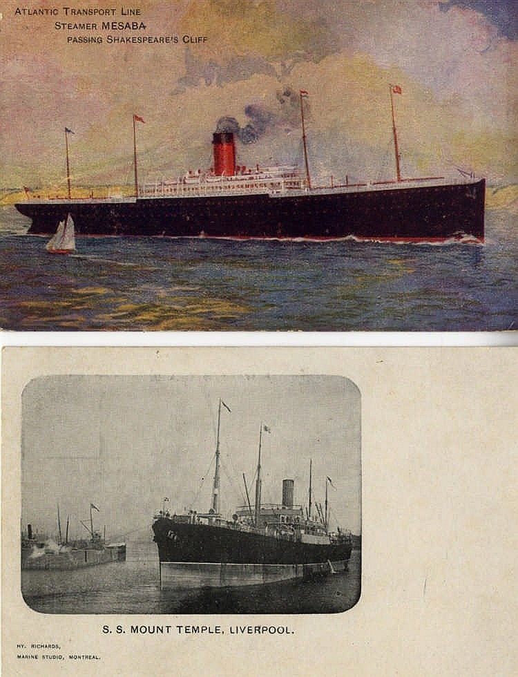 R.M.S.TITANIC: Good collection of postcards of vessels related to