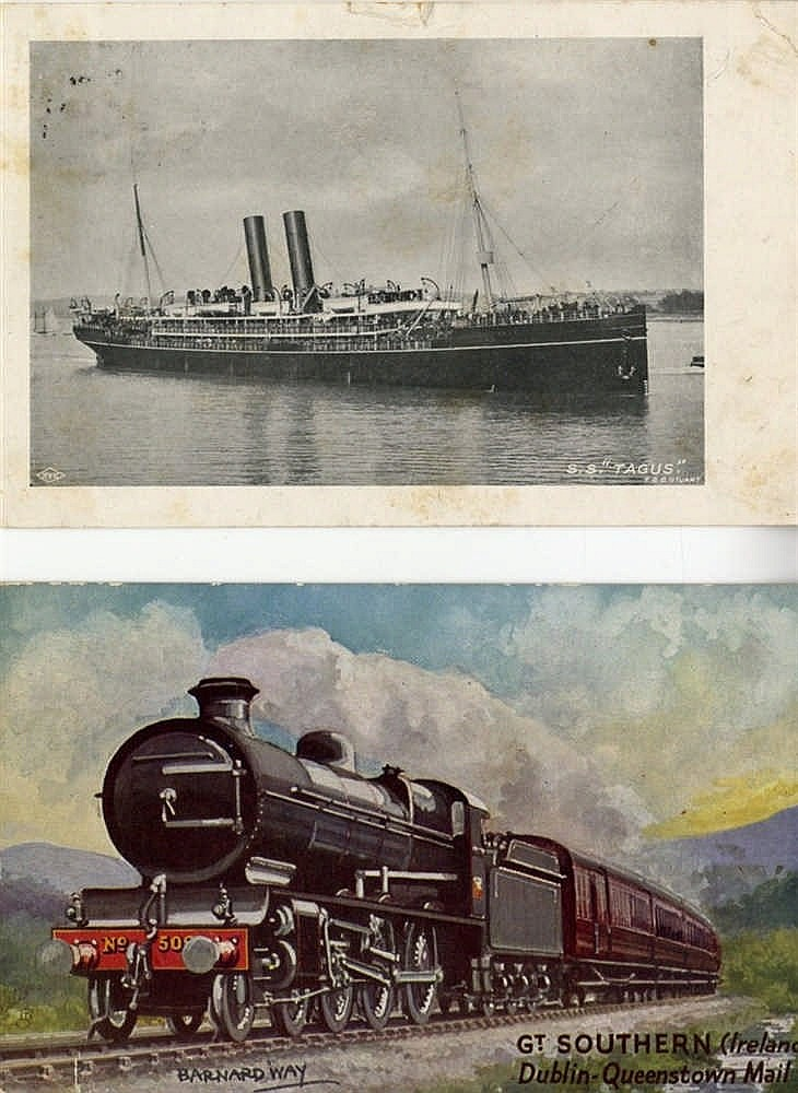 R.M.S.TITANIC: Original postcards relating to the Titanic includi