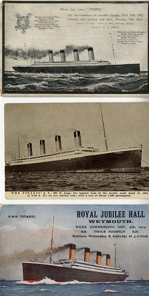 R.M.S. TITANIC: J. A. Salmon over print for the pre-maiden voyage