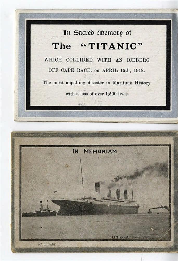 R.M.S. TITANIC: German postcard, post-sinking 'Der Untergang des