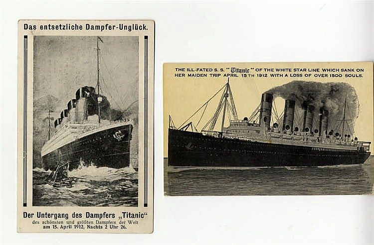 R.M.S. TITANIC: 'In Memoriam' card, illustrated with photo of Tit
