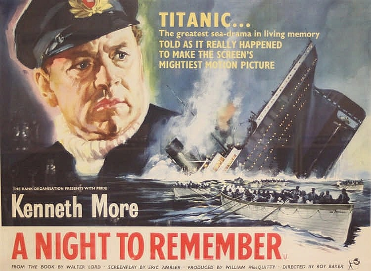 R.M.S. TITANIC/MOVIES: A reproduction full size film poster 15ins