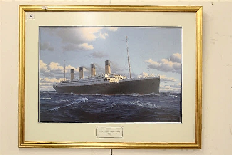 R.M.S. TITANIC: Ken Marschall print Passage to Eternity  . Framed