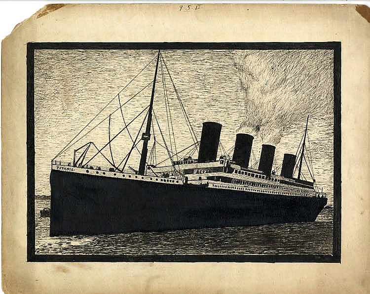 R.M.S. TITANIC: Hardy (H). An original black full-length pen and