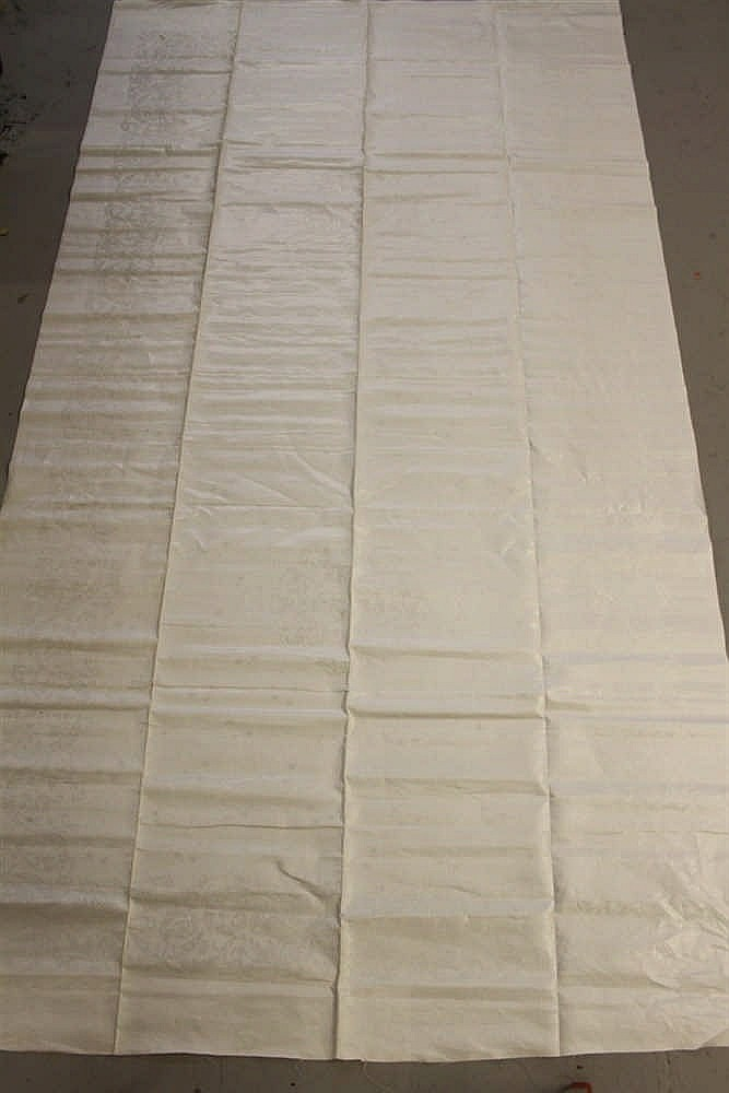 WHITE STAR LINE: Extremely rare Damask banqueting table cloth. 10