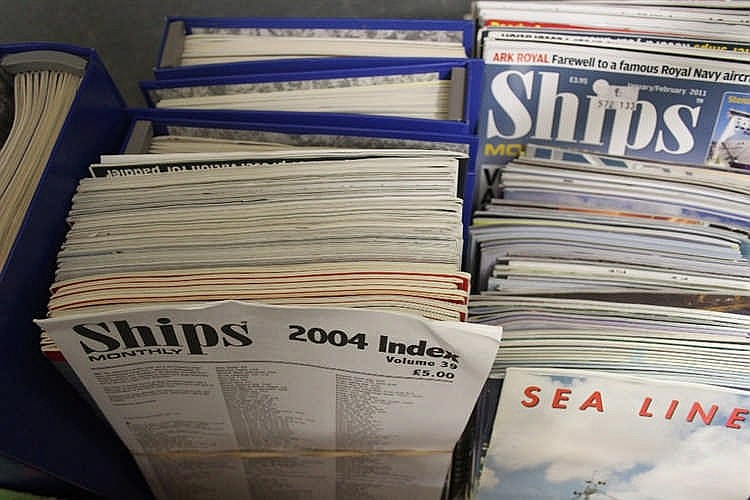 MARITIME: Ships Monthly July 1990 - December 2003 in fourteen bin