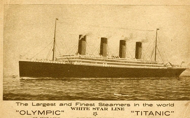R.M.S. TITANIC: United States artist's impression of either Olymp