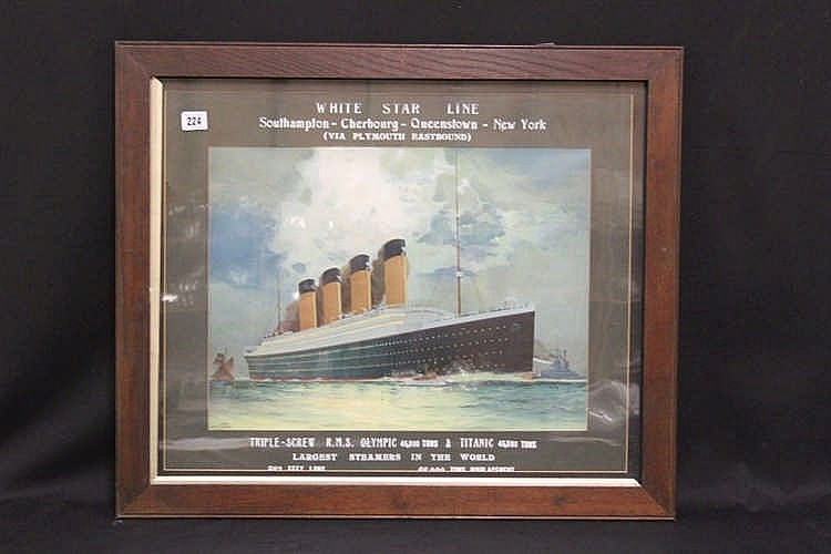 R.M.S. TITANIC: James Scrimgeour Mann (1883-1946). Extremely rare