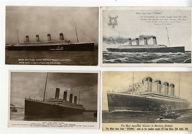 R.M.S. TITANIC: Real photo and artist postcards including Nationa
