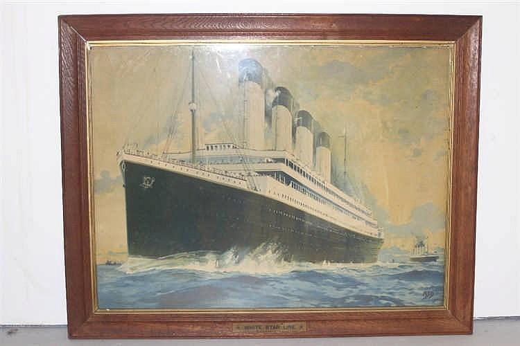 R.M.S. TITANIC: Montague Birrel Black,1884-1940. Extremely rare l