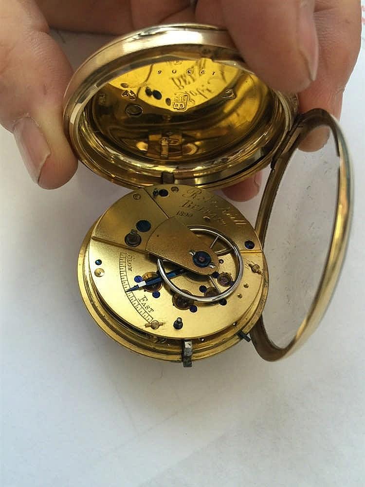 R.M.S. TITANIC/BELFAST SHIPBUILDING: 18ct. Gold pocket watch that