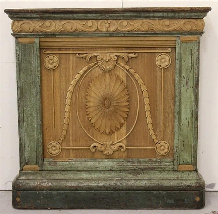 R.M.S. OLYMPIC: First Class oak Purser's desk in the Louis XIV st