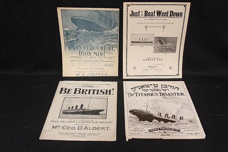 R.M.S. TITANIC: Sheet Music - Be British dedicated to the gallant
