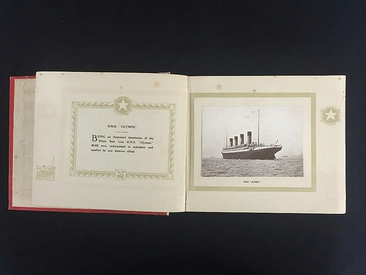 R.M.S. OLYMPIC: An exceptionally rare hard bound publicity book,