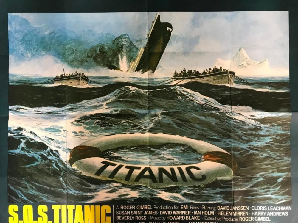 Sold Price R M S Titanic Movies Original Sos Titanic Movie Poster 39 Ins X 30 Ins October 6 0119 1 00 Pm Bst
