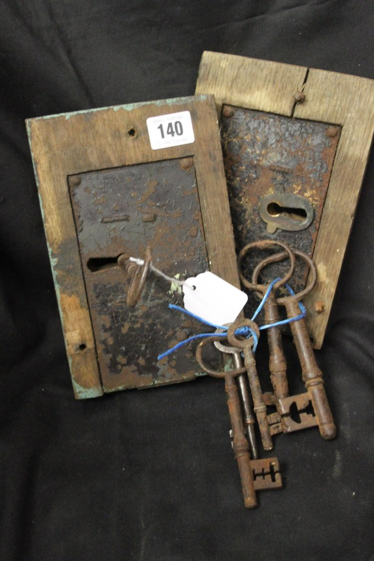 Locks late 18th early 19th cent door locks one with worki for 18th key of the door