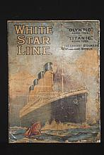 R.M.S. TITANIC: Montague Birrel Black,1884-1940. Extremely rare lithographi