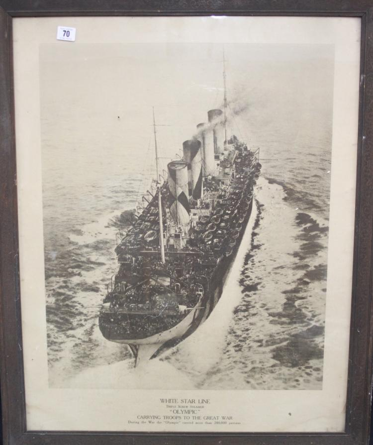 R.M.S. OLYMPIC/WWI