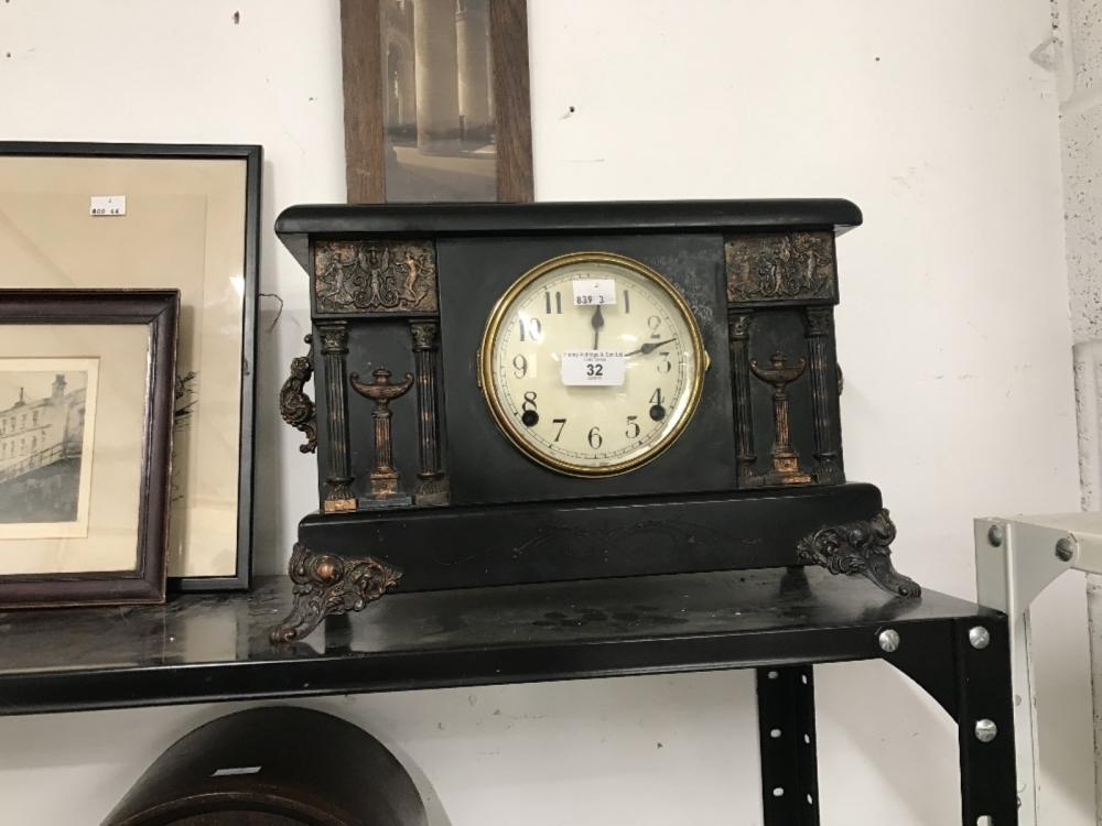 Early 20th cent. Treen cased American mantle clock. 14½ins. x 10ins.