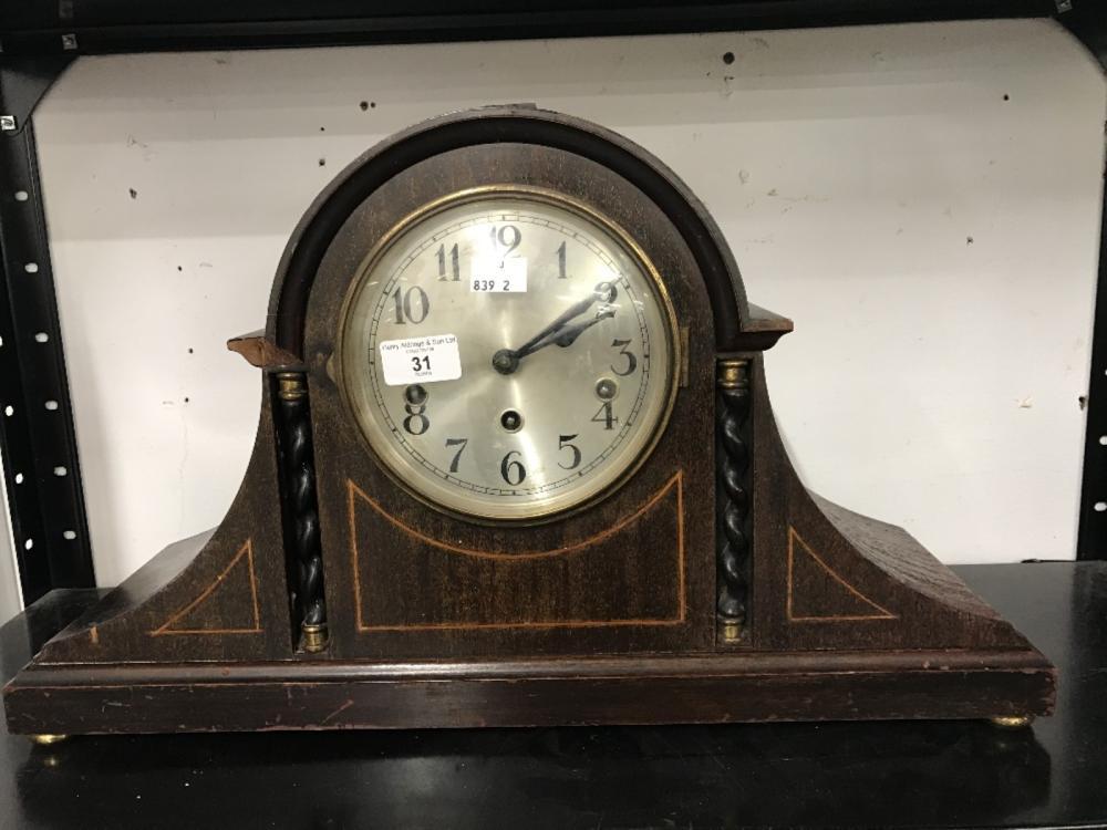 Clocks: Fontenoy mantle clock. 29¼ins. x 12½ins.