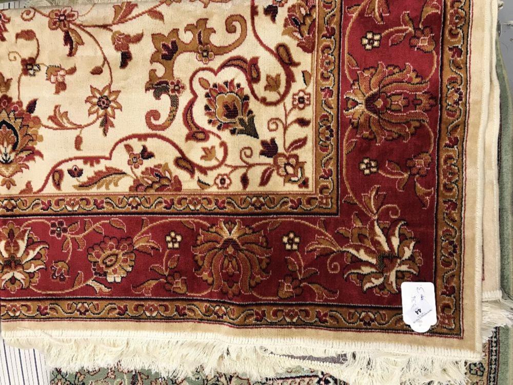 @21st cent. Carpet: Keshan, beige ground. 2.30m x 1.60m.