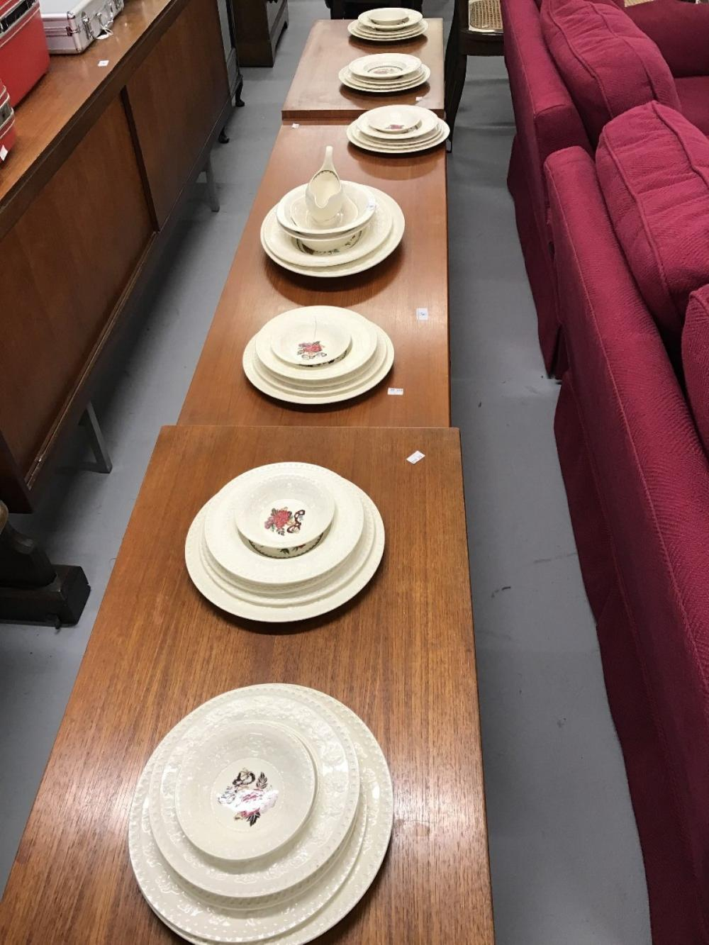 The Thomas E Skidmore Collection: 20th cent. Ceramics: Wellesley 'Bullfinch' dinnerware. Meat ovals